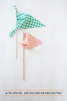 cute and easy no-sew flags and bunting {my cakies}