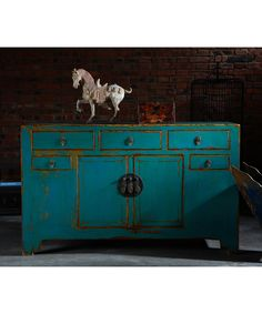 chinese cabinet - love this color Asian Furniture, Chinese Furniture, Oriental Furniture, Handmade Furniture, Painted Furniture, Furniture Design, Refinished Furniture, Consoles, Chinese Cabinet
