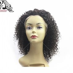 Find More Human Wigs Information about Free Part Short Human Hair Kinky Curly Wigs 18'' Brazilian Lace Front Curly Wigs / Glueless Full Lace Human Hair Wigs in Stock,High Quality wig pro wigs,China wig brush Suppliers, Cheap wig glue from Shiny Hair Wig on Aliexpress.com