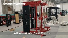www.fitness-china.com Ntaifitness Smith Machine Cage & Half Cage & Cable Crossover Combo. A total body workout plus a safer alternative to free weight racks equals the must-have design of the Ntaifitness Combo Smith Machine. Shop Ntaifitness Smith Machines for Residential and Commercial Use. Gym Equipment Names, Exercise Equipment, Chin Up Station, Home Gym Machine, Cages For Sale, Plate Storage, Team Building Exercises, Muscular Endurance, Smith Machine
