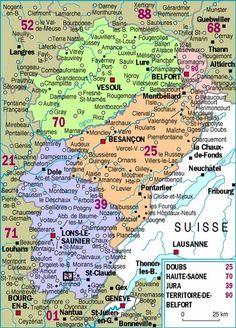 La région de Franche-Comté.