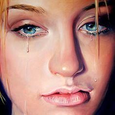 dramatic realism painting | eye art girl beautiful beauty face closeup female angel mi painting ...