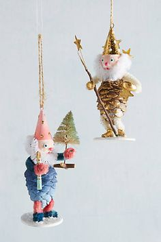 pinecone gnome ornament. make these with w?