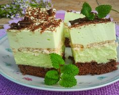"Domowa Cukierenka - Domowa Kuchnia: ciasto ""miętusek"" Sweet Recipes, Cake Recipes, Dessert Recipes, European Dishes, Cake Bars, Sweets Cake, Polish Recipes, Homemade Cakes, Cake Cookies"