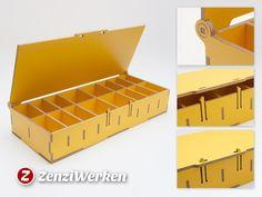 Compartment Storage Box w/ Lid cnc/laser by ZenziWerken - Thingiverse