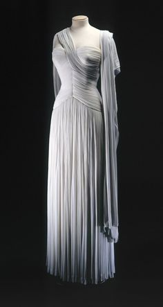 Notes: Evening Gown, for maybe a party or get together the Duke is throwing __________________________________  Madame Gres/1950s