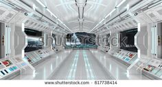 Spaceship interior with view on space and distant planets system rendering elements of this image furnished by NASA Spaceship Interior, Futuristic Interior, Spaceship Design, Spaceship Concept, Futuristic Design, Spaceship Drawing, Alien Spaceship, Cartoon Spaceship, Spaceship Tattoo