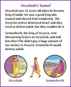 Hezekiah's Tunnel  - Kids Korner - BibleWise