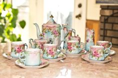Reproduction????? RS Prussia Coffee Tea Set /  Vintage Table ware on Etsy, $199.00
