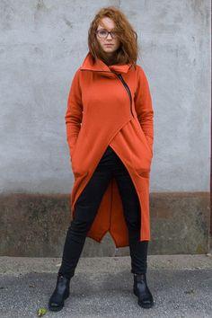 M Asmin Orange Bluza/Płaszczyk na ukos - Navaho - NAVAHO - Dzianina