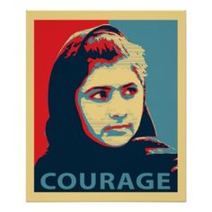 Malala Yousafzai - A Picture of Courage Poster Zazzle_print