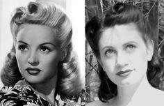 Peinados Victory Rolls, Pin Up. Empezó ya en los años 40. Muy populares en los anos 40 y 50. Tienen un aspecto muy glamuroso y femenino. Se trata de unos rollos hechosa los lados de la cabeza, o en el flequillo y/o cogote, que varían en número y tamaño. El resto del pelo se queda recogido en un moño o suelto ondulado. Un versión del nombre, cuentan que viene de las maniobras de los aviones de combate de la Segunda Guerra Mundial. En esa época, muchas mujeres tuvieron que trabajar y este…