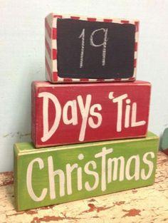 Countdown to Christmas block tree