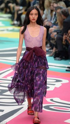 Bailey's show inspired was by Insects of Britain, which he translated onto the catwalk via...
