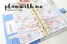 spread 4 websters personal Plan With Me - Sweet As Candy