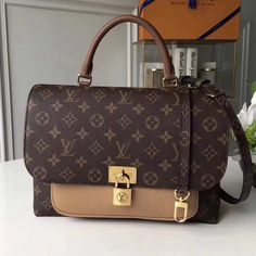 The Marignan Messenger in Monogram canvas and grained leather is the  quintessence of everything that makes Louis Vuitton bags the very definition  of ... 7d368b01324ab
