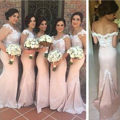 pink bridesmaid Dress,long bridesmaid Dress,mermaid bridesmaid dress,lace bridesmaid dress,PD126