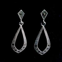 Marcasite Earrings Marta Sterling Silver Earrings with