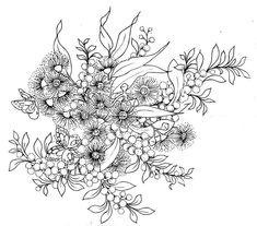 "Photo from album ""Australian Folk Art on Yandex. Australian Wildflowers, Australian Native Flowers, Black And White Flowers, Black And White Drawing, Flower Tattoo Designs, Flower Tattoos, Australian Tattoo, Wildflower Drawing, Native Tattoos"
