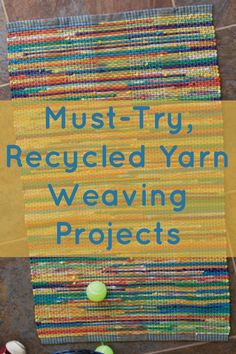 Learn everything you need to know about #weaving recycled yarn with these FREE projects! #recycledyarn