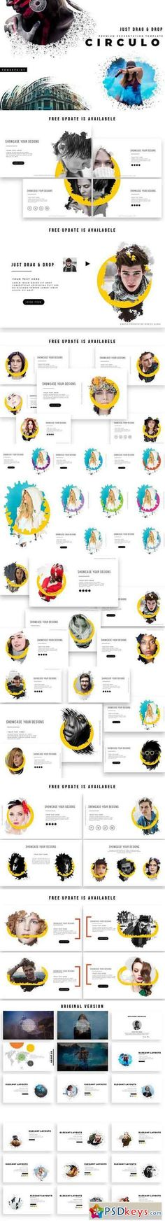 CIRCULO PowerPoint Template 1757474 #business #design