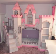 Girls Bedroom With Bunk Beds this playful pink bedroom is any little princess's dream. the
