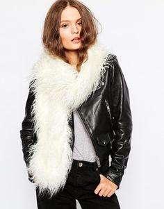 New Look Mongolian Fur Stole