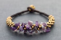 Amethyst Bunch kumihimo bracelet XtraVirgin on Etsy. (Real??)