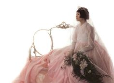pink wedding hanbok