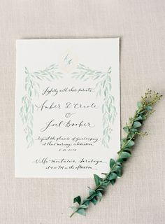 Photography: Jen Huang Photography   jenhuangphotography.com Calligraphy: Feast Calligraphy   feastcalligraphy.com Stationery: (Watercolor) Jen Huang Art   jenhuangart.com   View more: http://stylemepretty.com/vault/gallery/38778