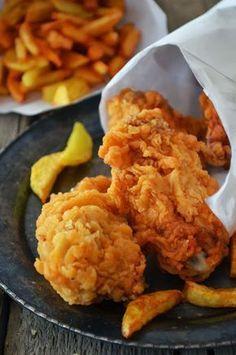 Kurczak jak z KFC. Kfc, Good Food, Yummy Food, Fast Food, Wonderful Recipe, Food Inspiration, Chicken Recipes, Snack Recipes, Food Porn