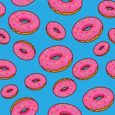 Hippie Wallpaper, Food Wallpaper, Tumblr Wallpaper, Cartoon Wallpaper, Donut Background, Pixel Art Background, Background Patterns, Donut Cartoon, Food Cartoon