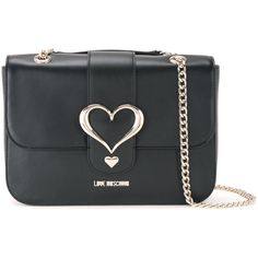 Love Moschino heart buckle shoulder bag ($277) ❤ liked on Polyvore featuring bags, handbags, shoulder bags, black, shoulder hand bags, love moschino, heart shaped handbag, buckle handbags and buckle purses