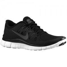 Nike Free 5.0+ Heren Zwart Donkergrijs Wit Donkergrijs Hardloopschoenen