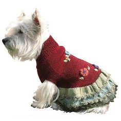 Lady Love Handknit Alpaca Dog Sweater Dress