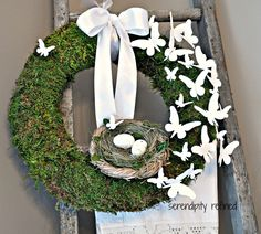 wreaths with butterflies | ... Refined: Spring Break, Nesting and A Moss and Butterfly Wreath