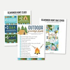 Camping Scavenger Hunt Printable Summer Camp Nature Scavenger | Etsy