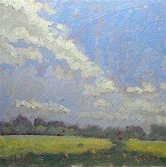 """Summer Clouds Landscape"" - Original Fine Art for Sale - © Heidi Malott"
