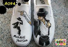 Michael Jackson hand-painted shoes graffiti shoes canvas shoes female male  - - a094 customize $1272,33