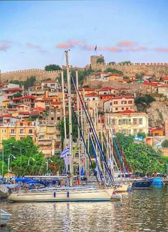 Castle of Kavala town Macedonia Cyprus Island, What A Wonderful World, Macedonia, Best Cities, Greece Travel, Historical Sites, Wonders Of The World, Roots, Landscapes