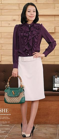 office style ♥✤ | Keep the Glamour | BeStayBeautiful Outfit Office, Office Wear, Office Chic, Office Style, Office Fashion, Work Fashion, Beautiful Blouses, Beautiful Outfits, Modest Church Outfits