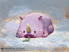 Lucky Pig, Bobby Chiu on ArtStation at https://www.artstation.com/artwork/lucky-pig