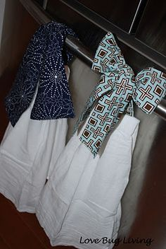 Hanging Kitchen Towels - Need to make these!!!