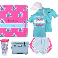 Today's Lilly Agenda: Beach Day! by palmettomoon on Polyvore featuring Lilly Pulitzer, Tervis, Lillypulitzer, yeti, Simplysouthern and laurenjames
