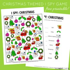 Free Christmas doodles I Spy game for kids from And Next Comes L