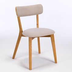 Lund Solid Wood Dining Chair With Mineral Fabric Seat And Oak Available Online At