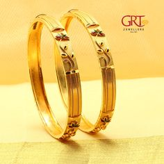 GRT Jewellers is one of the India's foremost jewellery store having an exquisite collection of jewellery in Gold, Diamond, Platinum and Silver created by the finest artisans of India. Also available exclusively in GRT Jewellers Online Jewellery Shopping. Gold Chain Design, Gold Ring Designs, Gold Bangles Design, Gold Earrings Designs, Gold Jewellery Design, Gold Jewelry, Crystal Jewelry, Jewelry Art, Jewlery