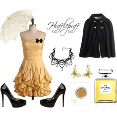 Hufflepuff on the Town, created by kalylia on Polyvore