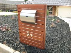 Semi Curve Lockable Mailboxes Stainless Steel Modern Urban Style - QUALITY IS TOP