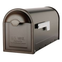 Architectural Mailboxes 6.6-in X 8.8-in Metal Oil-rubbed Bronze Post Mount…